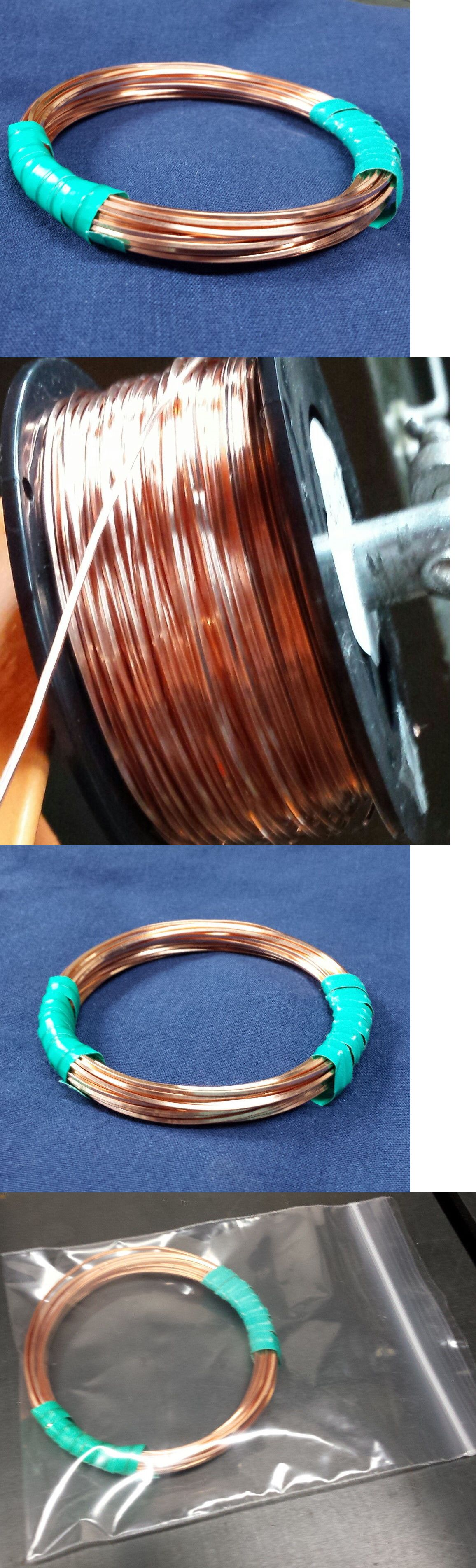 COPPER Wire SQUARE Coils 99.9% Pure 5 - 40 FT Gauges 10-24 DEAD SOFT ...