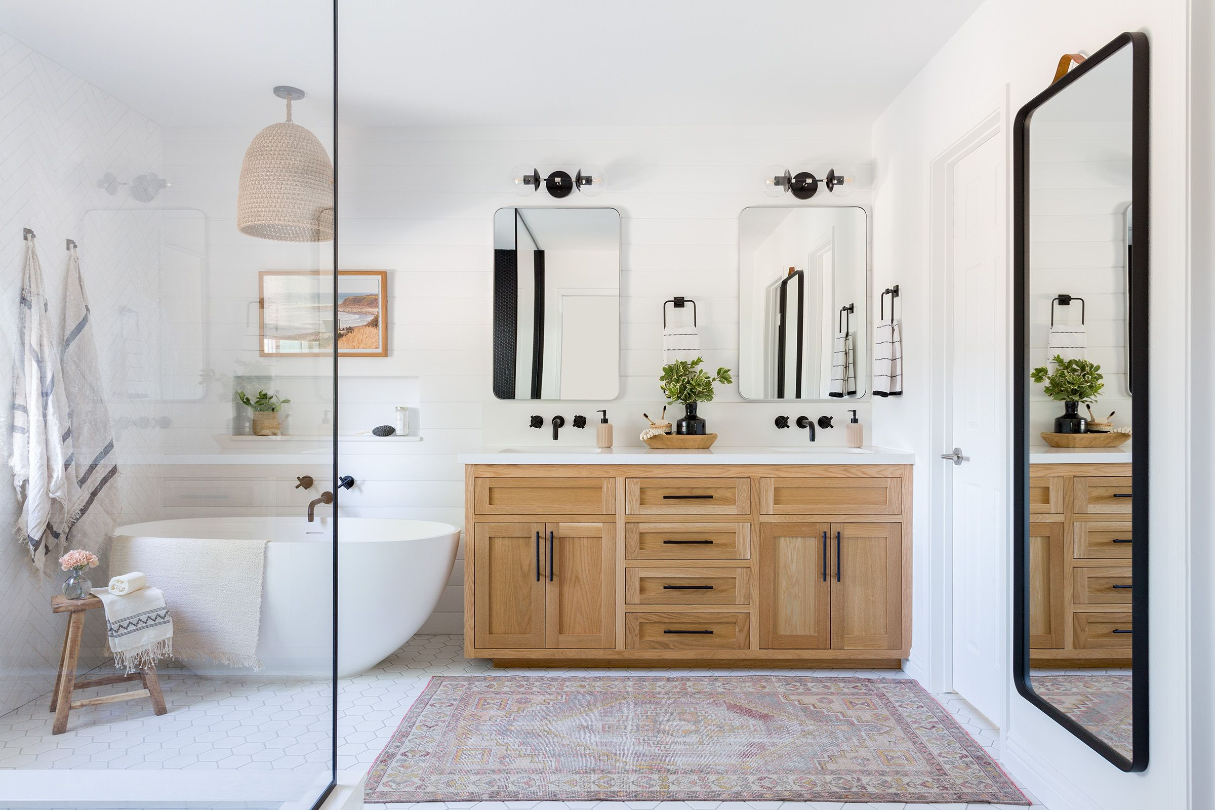 A Large Master Bathroom Designed With Personality Rue Master Bathroom Design Home Bathrooms Remodel
