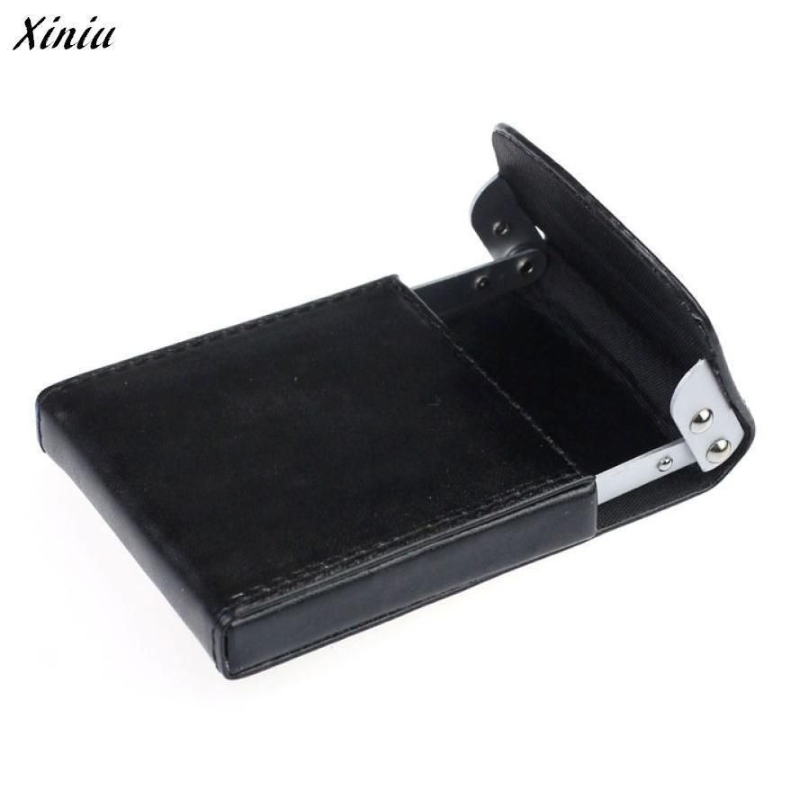 Xiniu metal case organizer pu leather business card name id credit xiniu metal case organizer pu leather business card name id credit card mini box pocket wallet case holder reheart Gallery