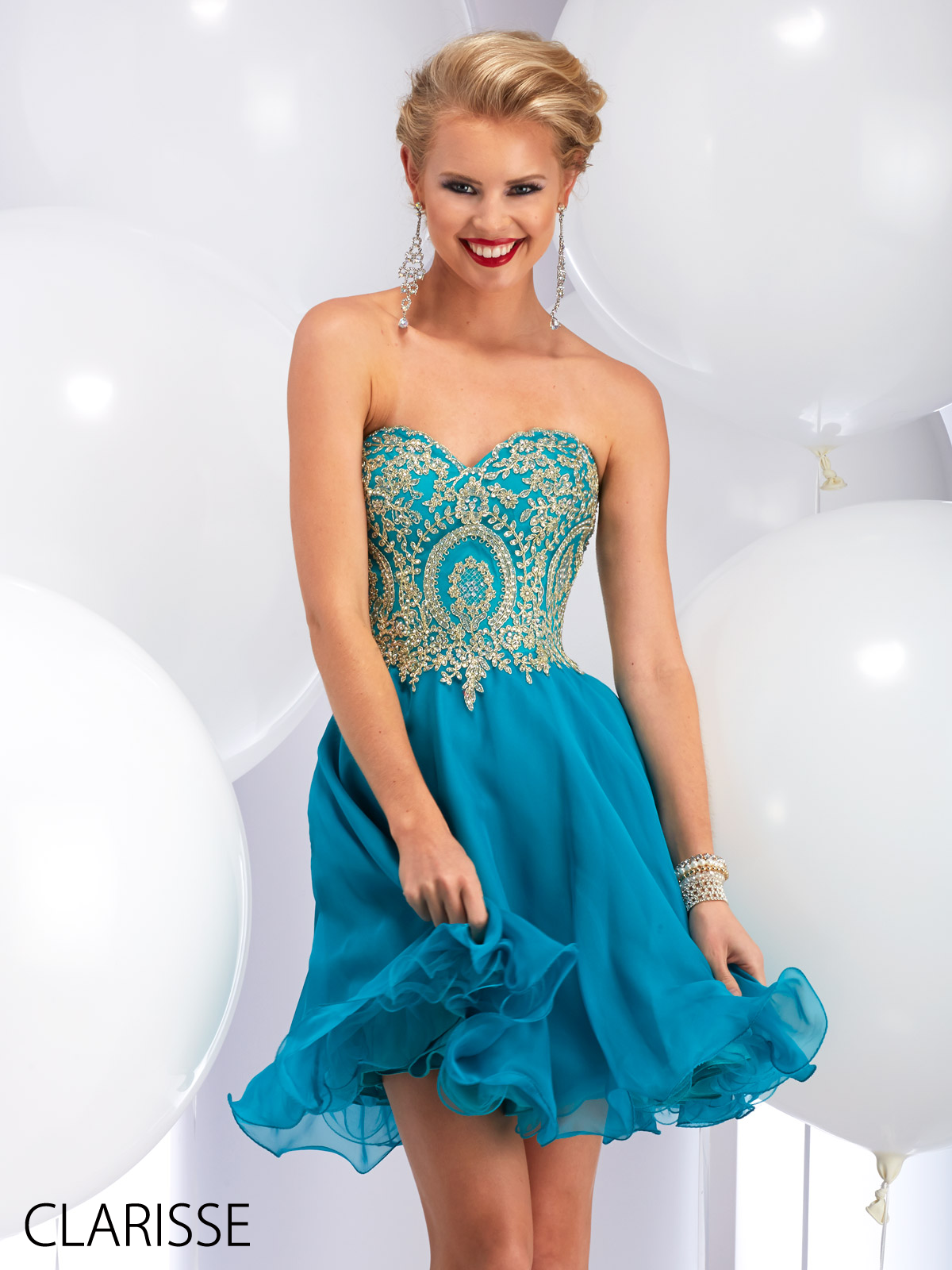 Clarisse Short, Teal, Fun and Flirty Beaded 2016 Prom Dress Style ...