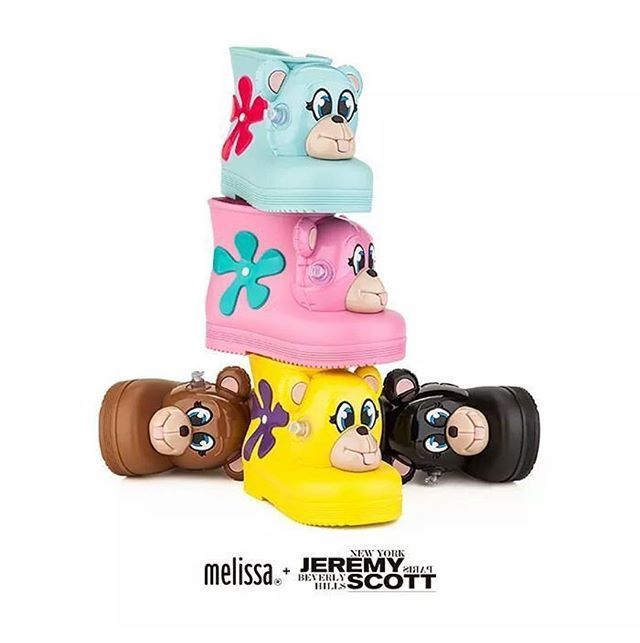 HERES A LOOK AT THE KIDS RAIN BOOTS I DESIGNED FOR @melissaoficial COMING OUT NEXT WEEK !