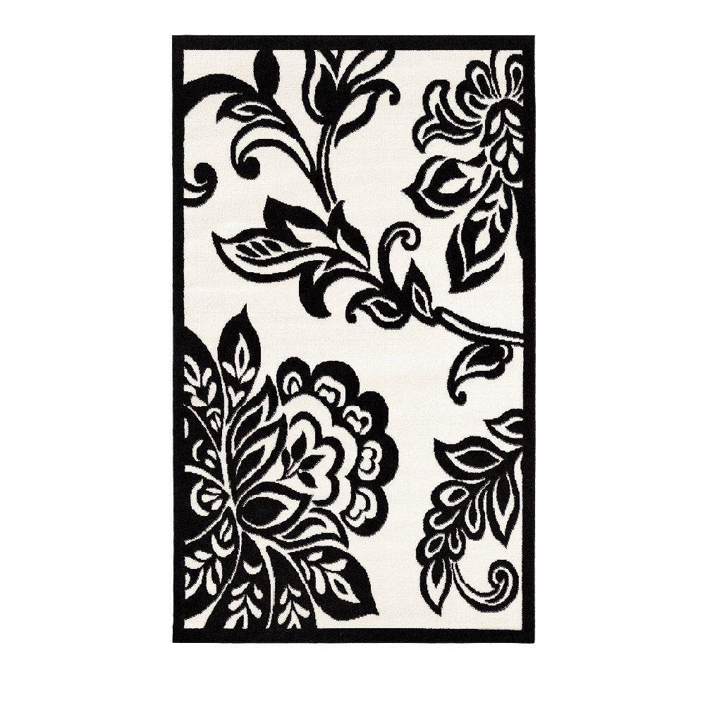 Linon Home Decor Capri Collection Black And White 4 Ft X 7 Ft