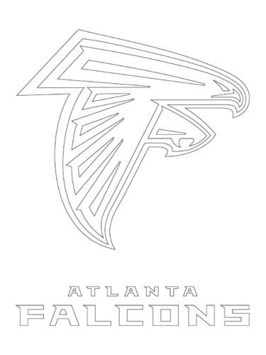 Atlanta Falcon Coloring Pages Shablony Risunki