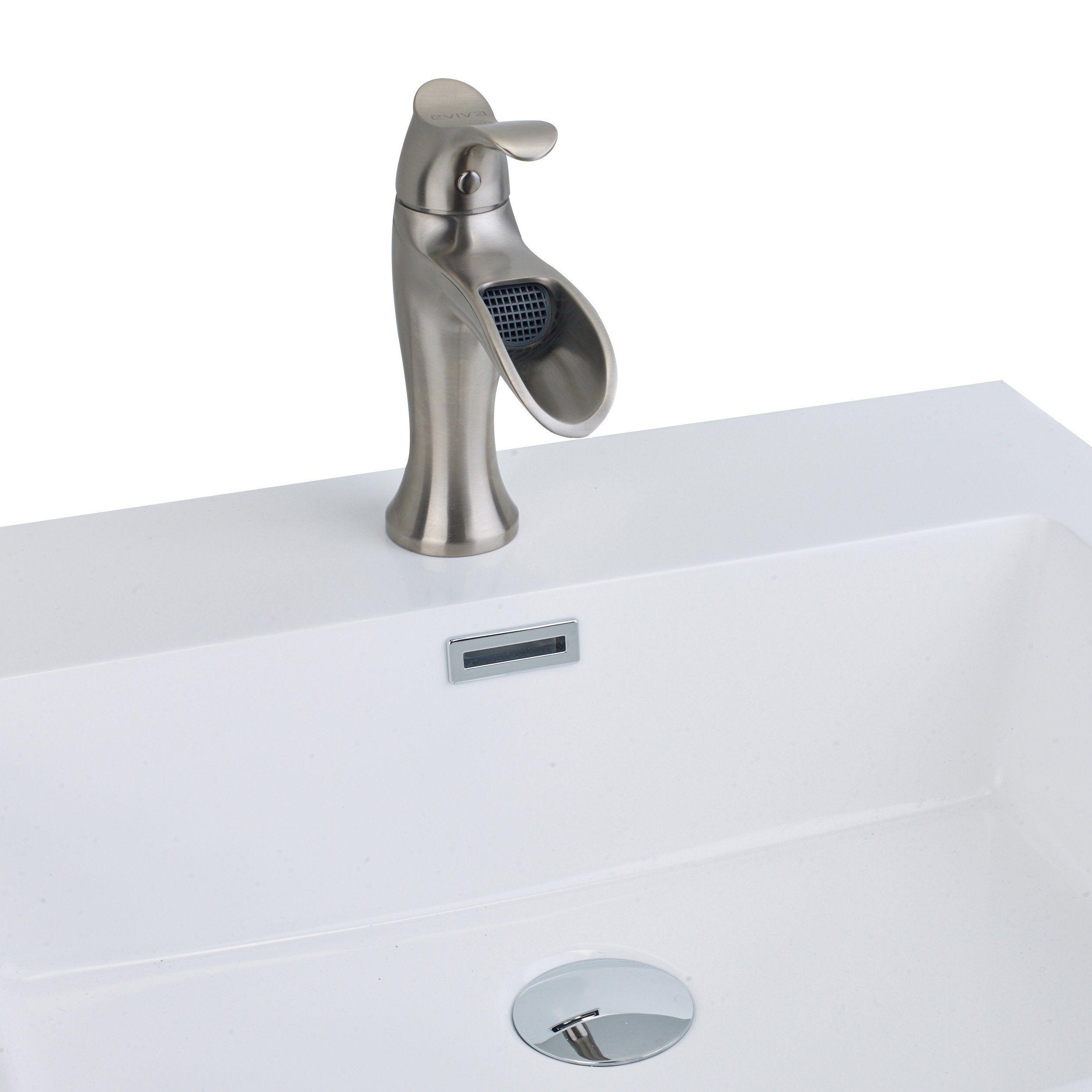Eviva Swan Luxury Waterfall Single Handle Faucet Evft164 Sink Faucets Bathroom Sink Faucets Faucet