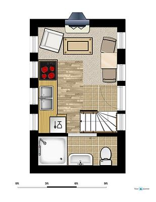 tiny trailer home floor plans   Home Design Sketches and Inspirations: Tiny House A