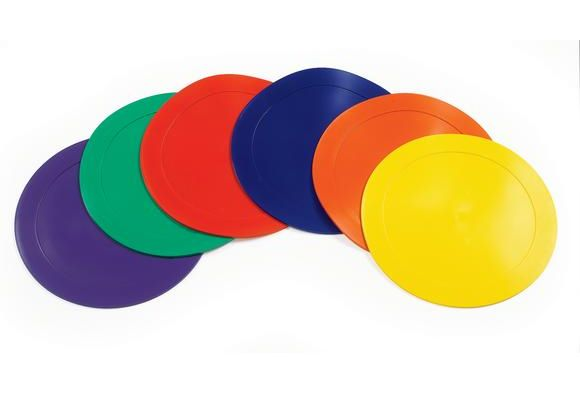 Poly Vinyl Spot Markers Set Of 6 Playground Games