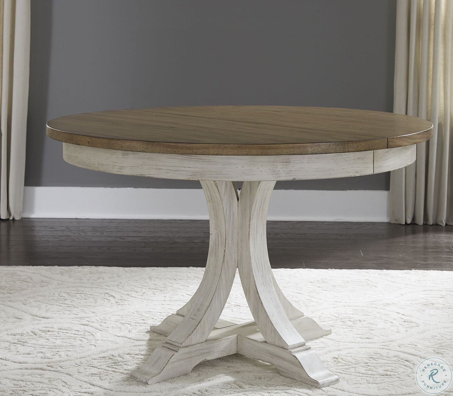 Willow Distressed White Round Counter Height Dining Table Farmhouse Round Dining Table Oval Table Dining Round Dining Room Table