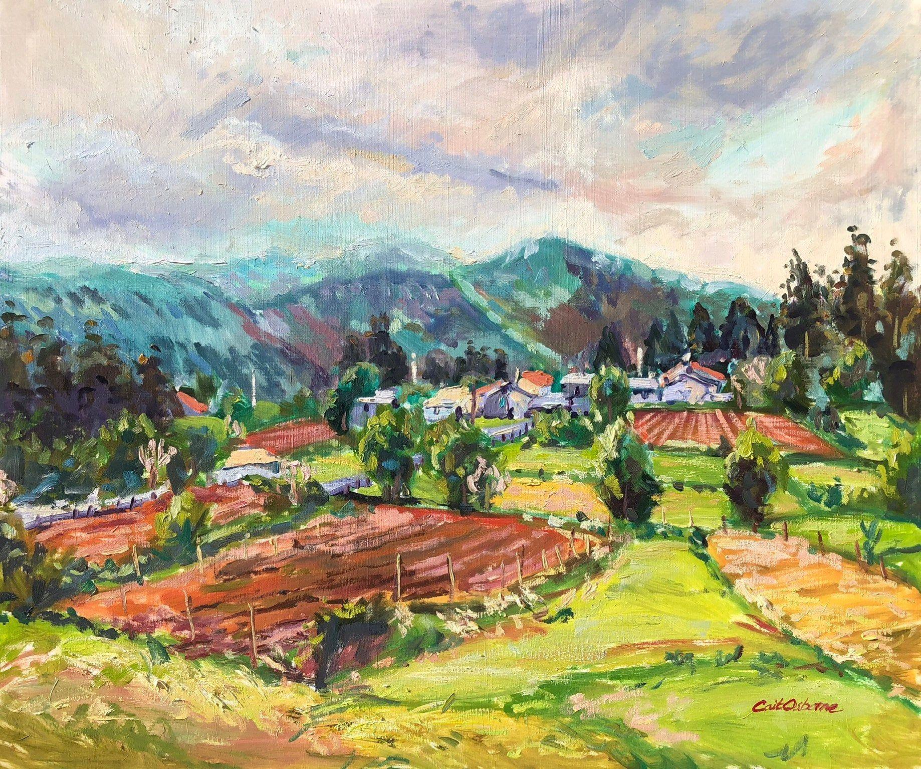Galician Village And Hills Oil Landscape Painting Of Northern Spain Oil Painting Landscape Landscape Paintings Landscape
