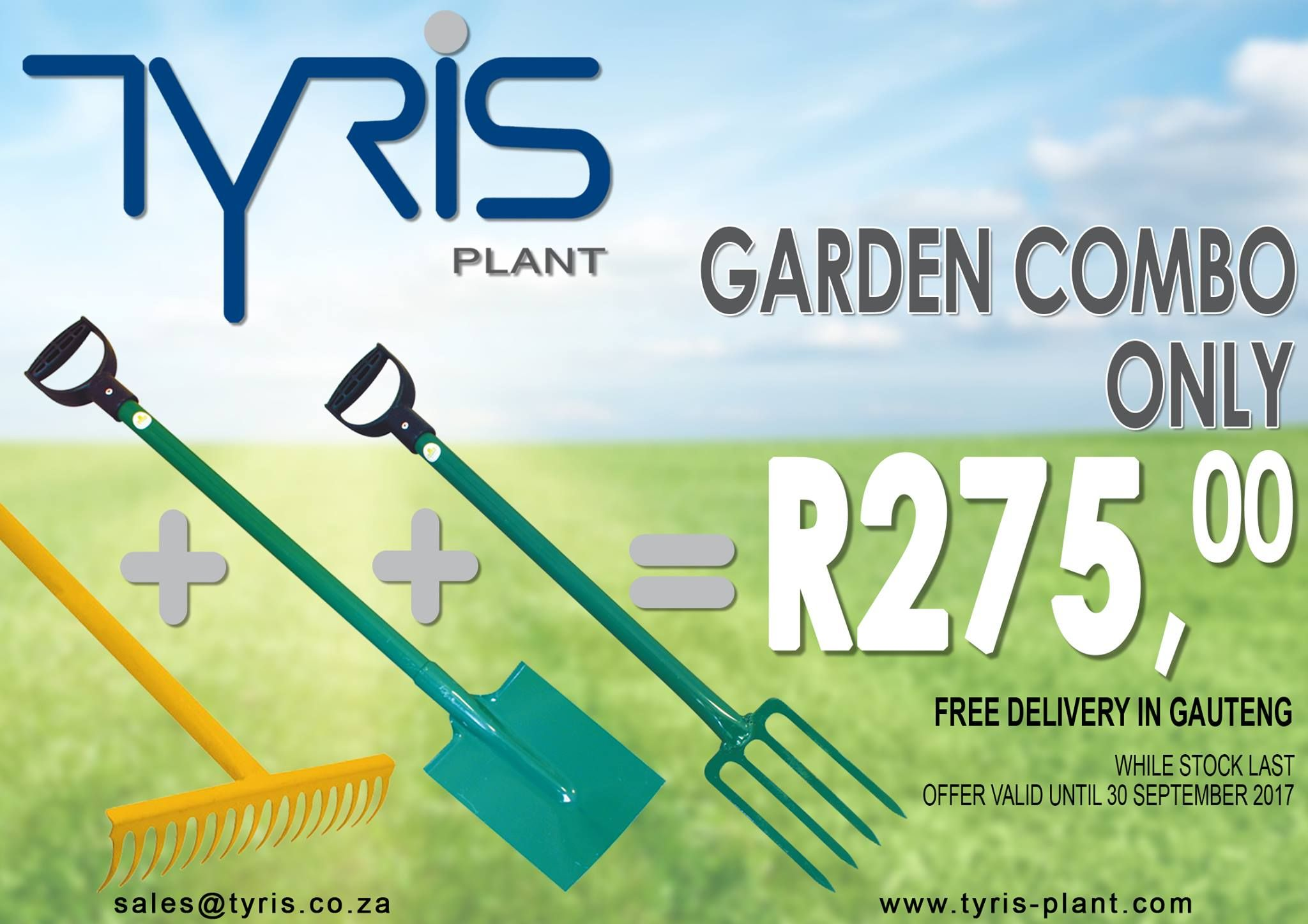Promotional design/advert for Tyris Plant Hire by