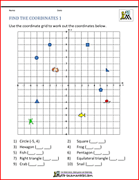 Coordinates In 4 Quadrants Sheet 1 Coordinate Plane Coordinate Plane Worksheets Coordinates Math
