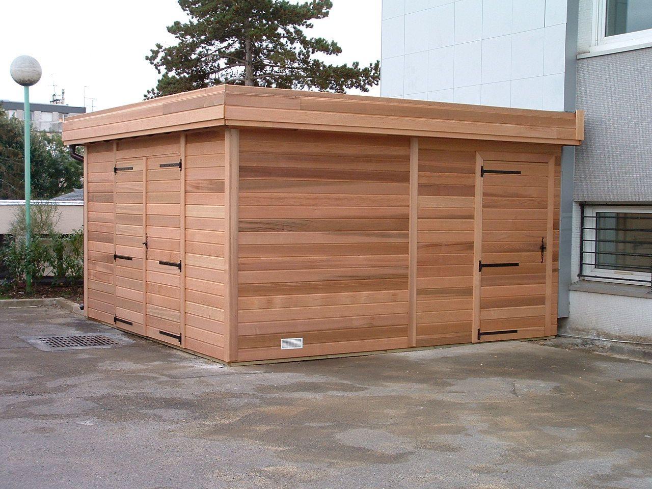 abri de jardin toit plat deco cedar shed garden in. Black Bedroom Furniture Sets. Home Design Ideas