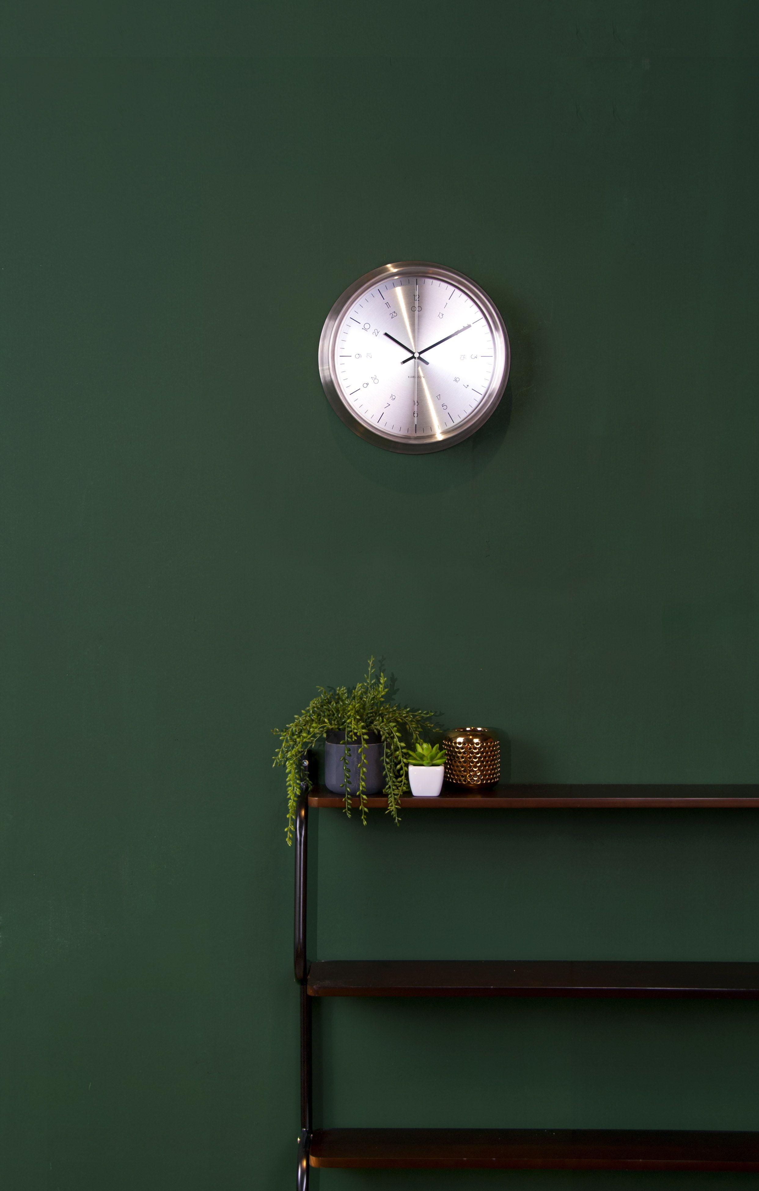 Dark green paint colors - Tea Light Holders Artificial Plants Clocks Ptliving Ptproducts Karlssonclocks Dark Green Wallswall Colourspaint
