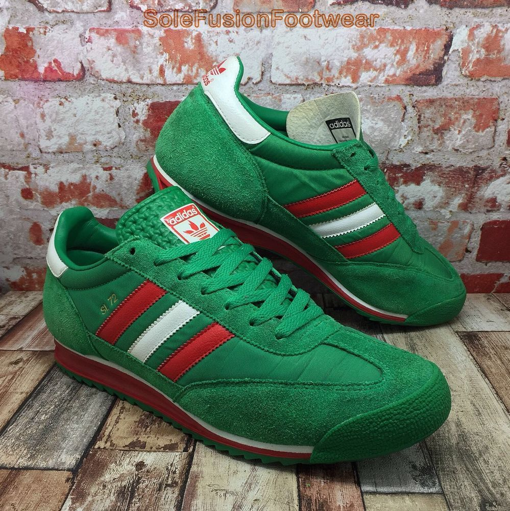 adidas Originals Mens SL 72 Trainers Green sz 9 Olympic Sneaker US 9.5 EU  43 1 3 f149d6d3e