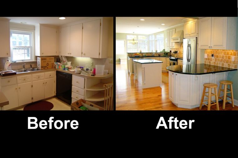 Cocinas reformadas - antes y después del gran cambio - | Antes ...