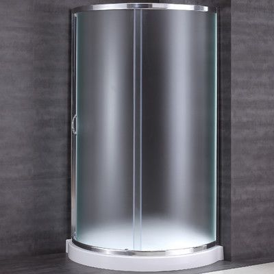 Ove Decors Breeze 34 X 34 X 76 Neo Angle Frosted Glass Kit