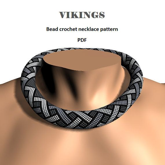 Vikings Bead Crochet Rope Pattern Pdf Pattern Diy Beaded