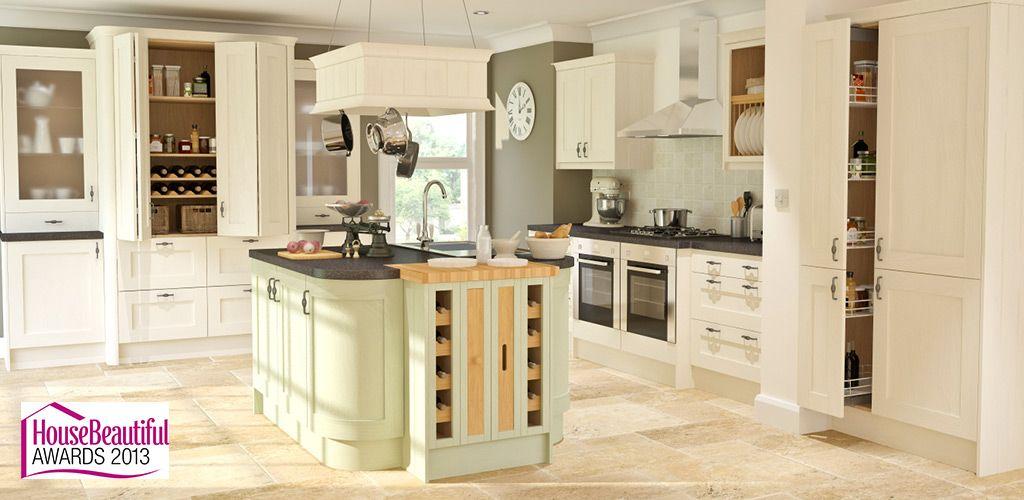 Wren Living - Framed Sage Timber Kitchen   Kitchens   Pinterest