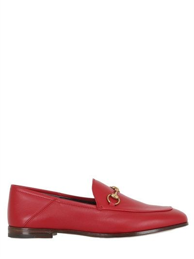 2a17a85d762 GUCCI 10MM BRIXTON HORSE BIT LEATHER LOAFERS
