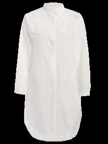 Embroidered High Low Button Up Tunic Shirt Dress. Tunic ShirtShirt  DressLong Sleeve ...