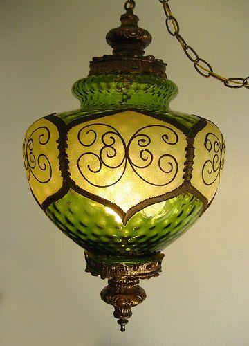 Vintage Glass Hanging Lamp Decorating Chandelier