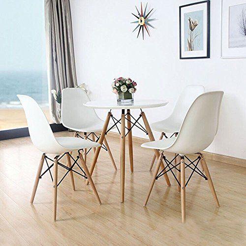 Open Space Design Stuhl, Retro Eames-Stil, Kunststoff, Weiß - wohnzimmer deko design