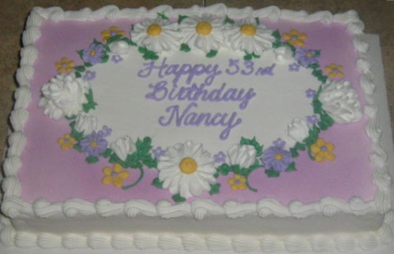Wondrous Lavender W Daisies With Images Birthday Sheet Cakes Sheet Funny Birthday Cards Online Hendilapandamsfinfo
