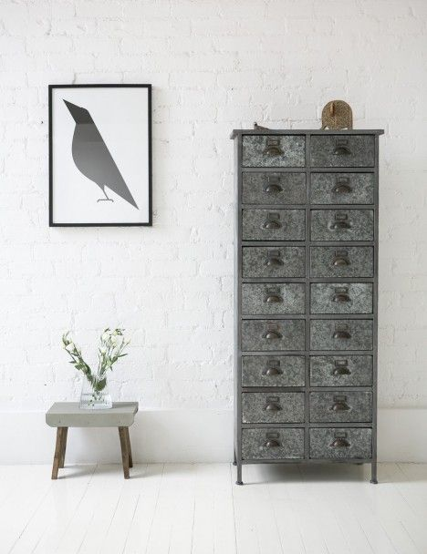 Antique Metal Library Drawers (With images) Vintage home