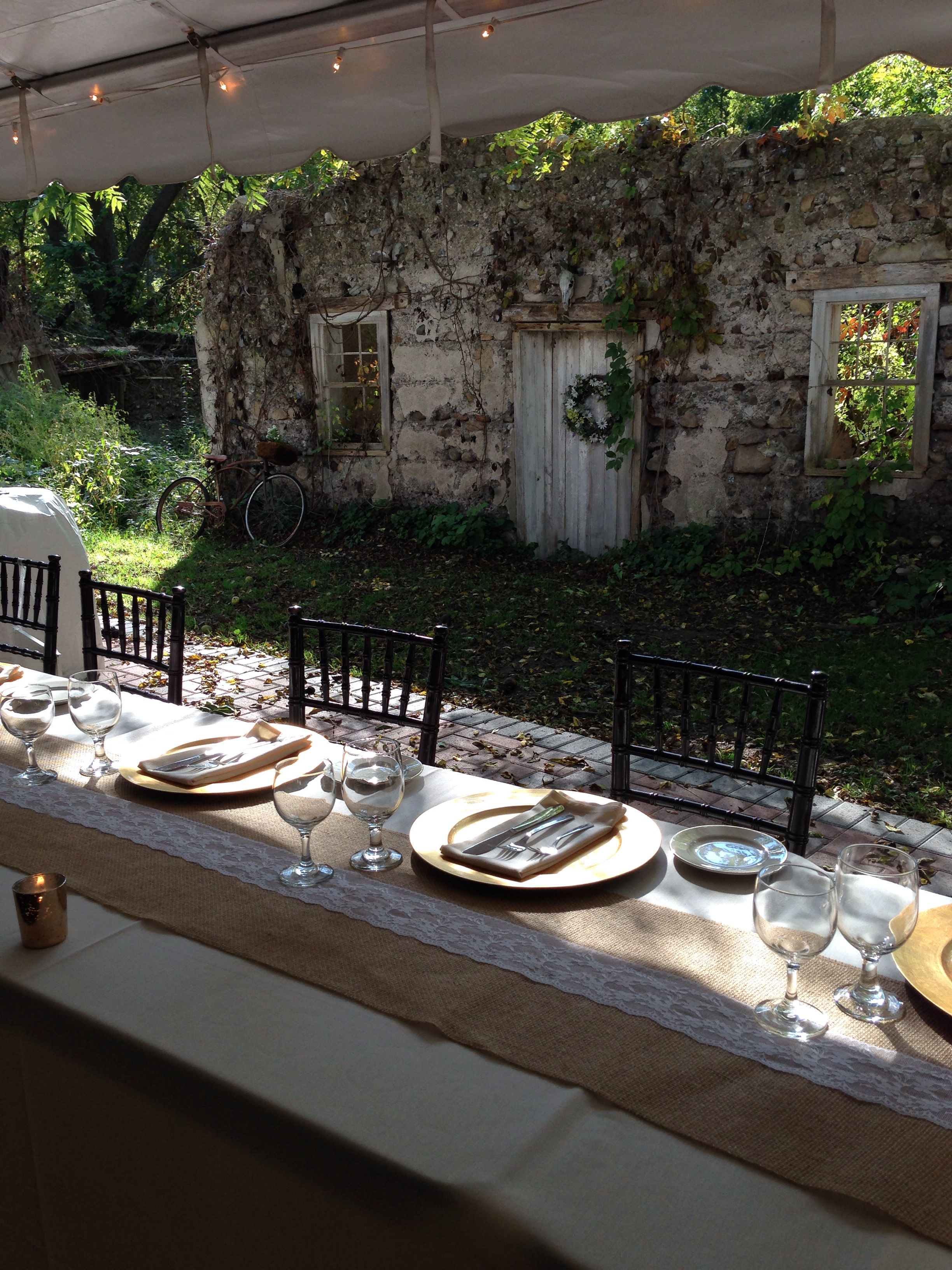 Our Cambria farm tables! What a gorgeous head table ...  |Outdoor Wedding Reception Head Table