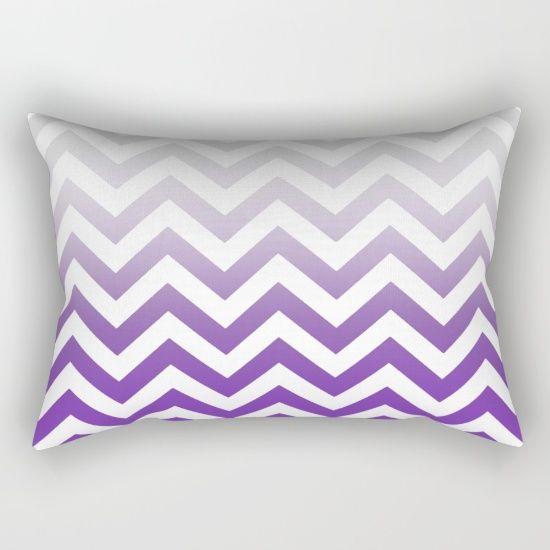 PURPLE FADE TO GREY CHEVRON Rectangular Pillow by monikastrigel