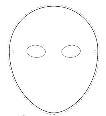 Mask Template Round Facejpg 370×404 pixels crafts around the - face masks templates