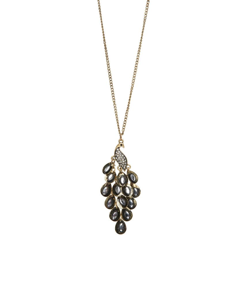 Peacock Long-Strand Necklace from Aeropostale