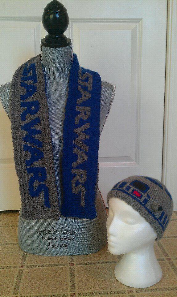 Star Wars Scarf, R2D2 Hat set | My Knitting Work | Pinterest | Knit ...