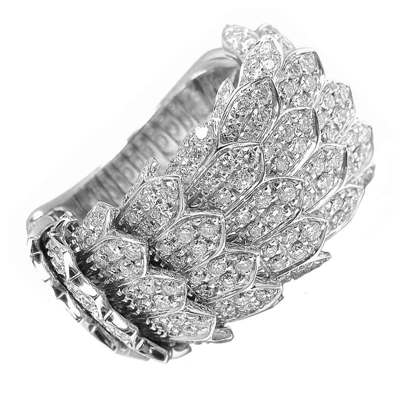 1stdibs | ROBERTO COIN Diamond Cobra White Gold Ring