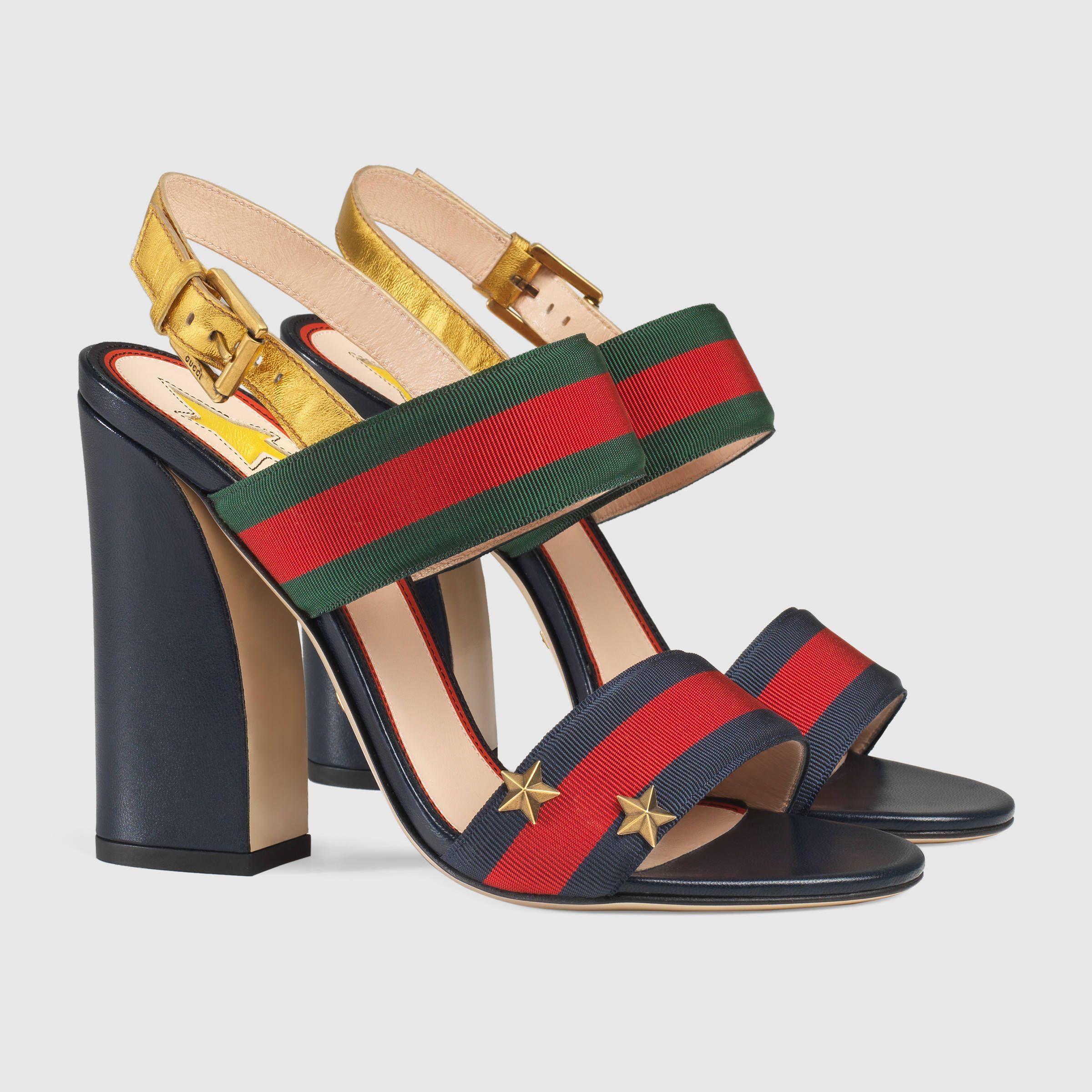 09ca3904813 Gucci Grosgrain Web sandal Detail 2  750