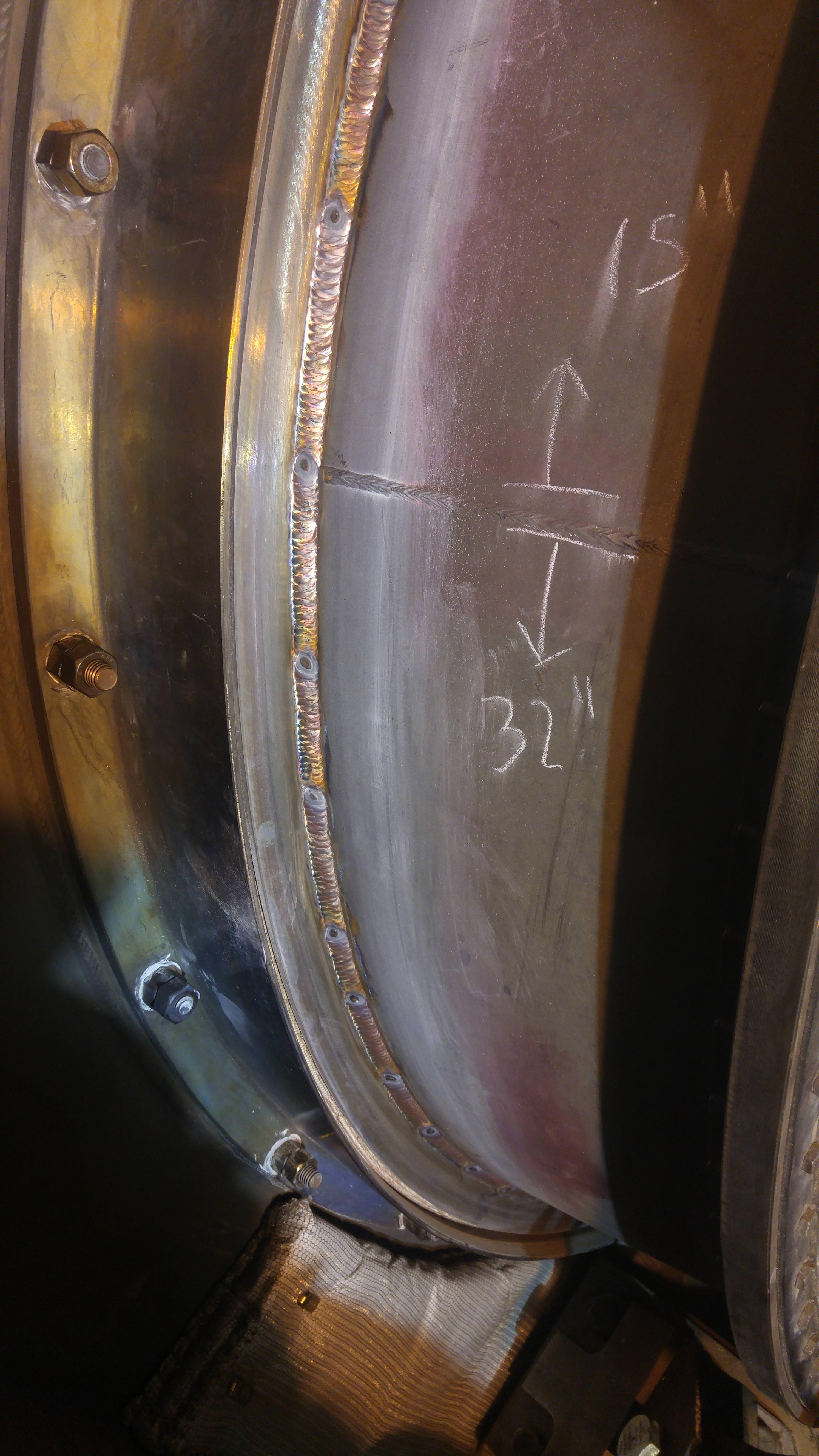 Crack repair on a natural gas turbine