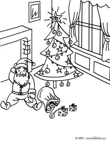 fall down christmas eve santa coloring page christmas Pinterest - new christmas tree xmas coloring pages