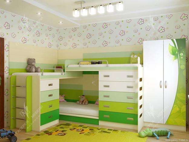 Letto A Castello Per Tre Bambini.30 And Three Children Bedroom Design Ideas Boys Room Decorating