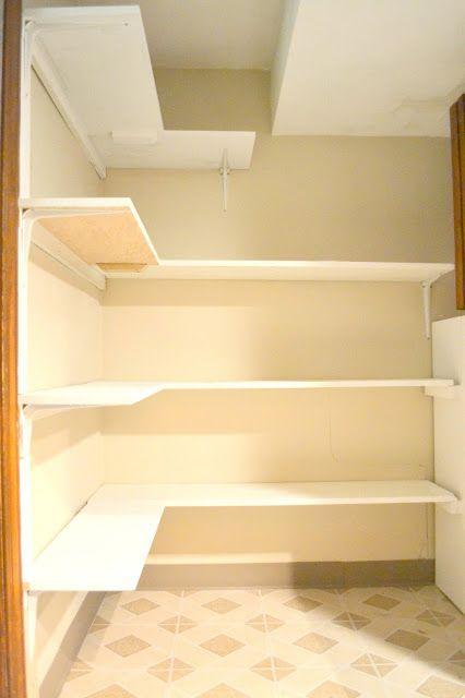 Laundry Room Makeover Part 4 Diy L Shaped Shelves