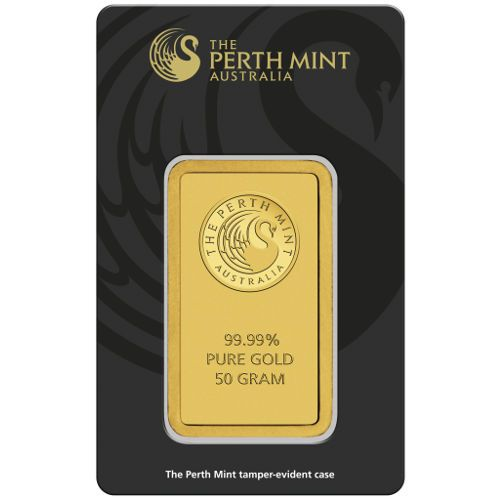 50 Gram Perth Mint Gold Bar New W Assay Mint Gold Gold Bars For Sale Mint Bar