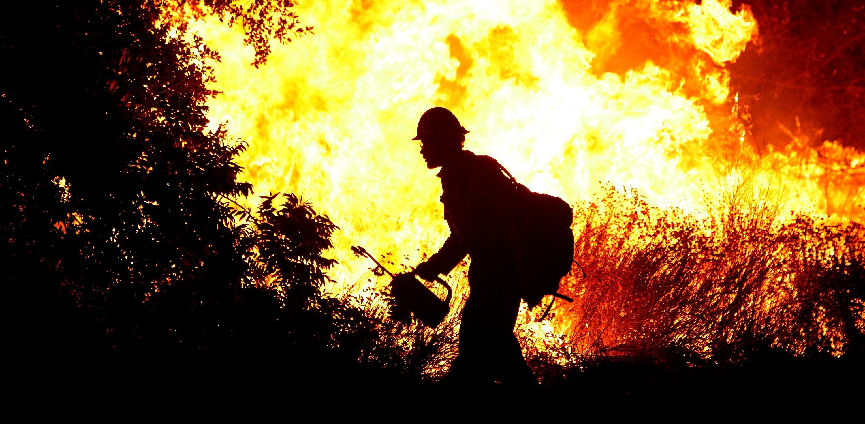 Hero S At Work On A Wildfire Firefighter Name Wallpaper Wallpaper Backgrounds