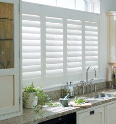 Kitchen On Pinterest | Wood Blinds, Shutters And Kitchen Windows