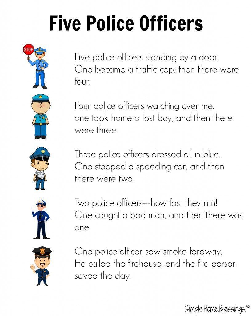Cute Rhyme For Preschool Police Man Unit Community Helper Lesson Community Helpers Police Community Helpers Preschool [ 1024 x 819 Pixel ]
