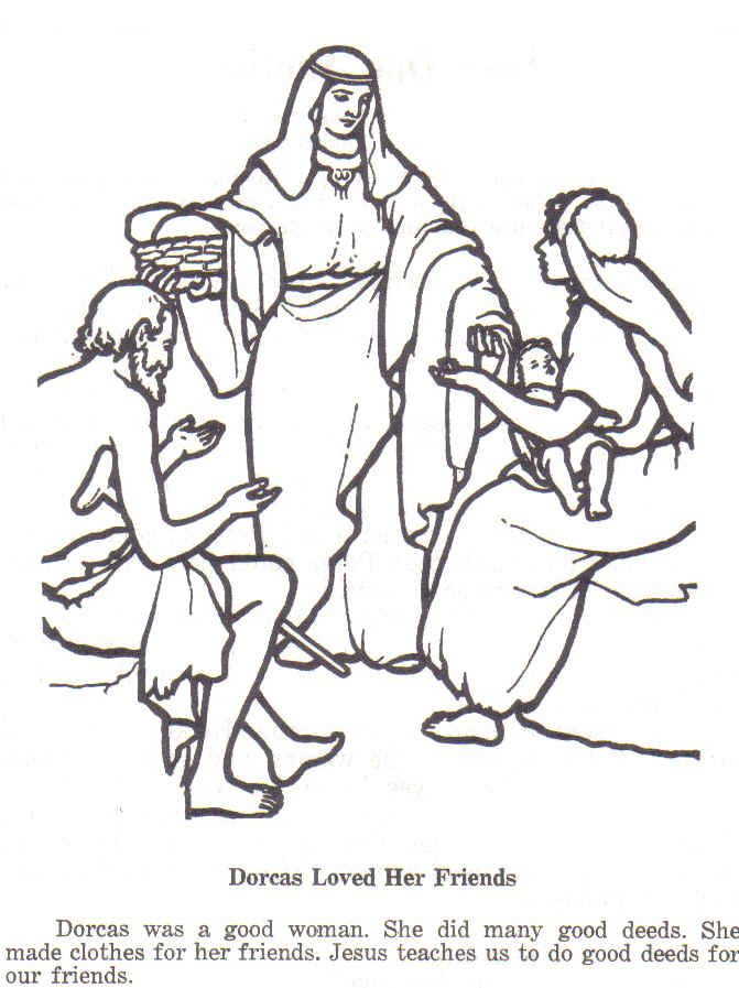 Dorcas In New Testament She Made Clothes For The Poor Sunday