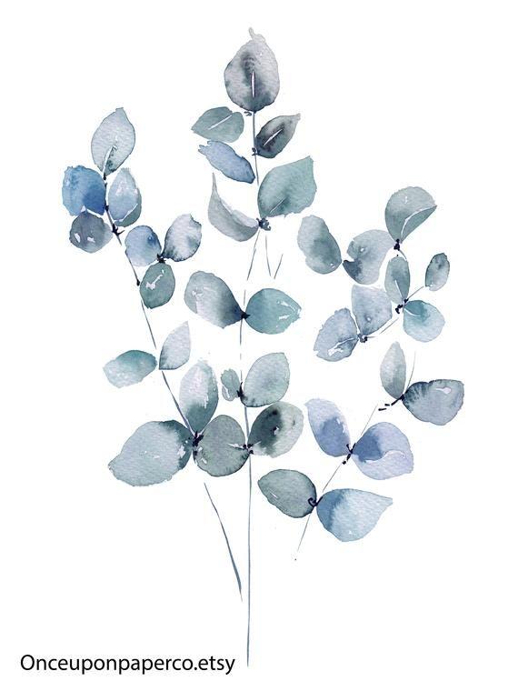 Eukalyptus druckbare, Botanik, Natur drucken, Eukalyptus-Blatt, Pflanze Kunst, botanische Kunstdruck, Teal Kunst, Gummi Blatt, Botanische Illustration