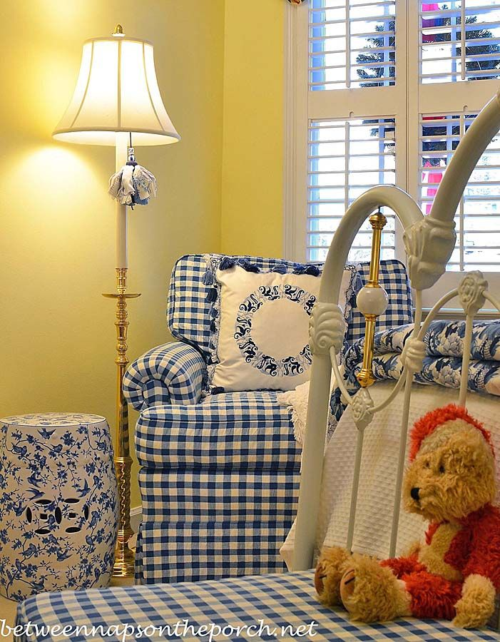 Best Updates For A Blue And White Guest Room Yellow Living 400 x 300