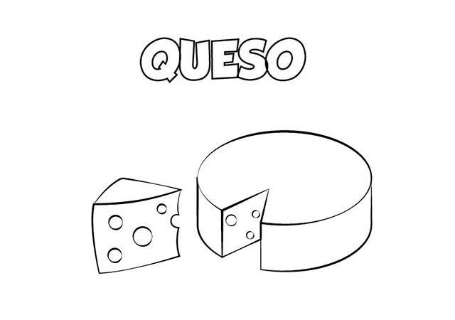 dibujo colorear queso | Dibujos de alimentos para colorear ...