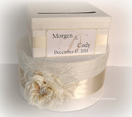 Wedding Card Money Gift Box You Customize By Laceyclairedesigns