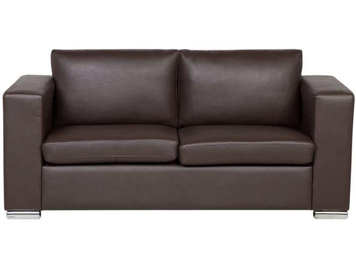 Beliani 3 Sitzer Sofa Leder Braun Helsinki In 2020 Sofa Furniture Decor