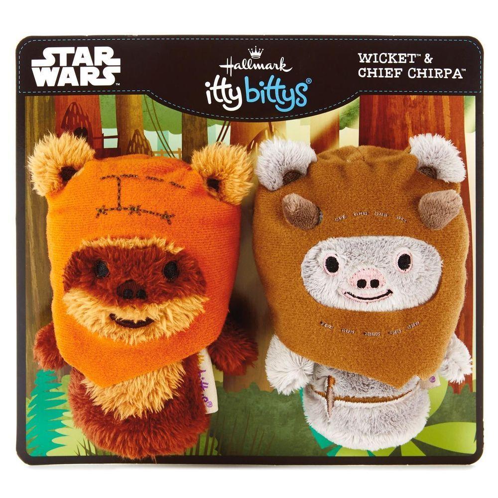 Hallmark Star Wars 2 Pack Itty Bitty Bittys Plush Ewoks Chief