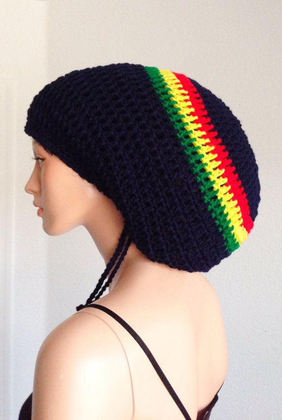 Women and Men\'s Crochet Mega Rasta Tam/ Jamaican Dreadlocks Tam/ Bob ...